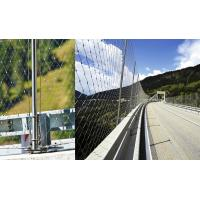 Buy cheap Bridge Balustrade Stainless Steel Rope Mesh , Cable Mesh Netting Ferrule / Knotted from wholesalers