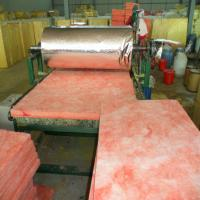 Pink colour glass wool blanket heat insulation building for Fiberglass wool insulation