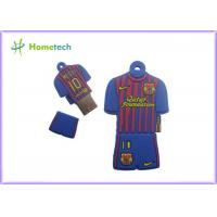 Buy cheap Customized USB Memory 2GB 4GB 8GB 16GB Barcelona Messi Polo Shirt USB Flash Drive from wholesalers