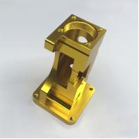 Buy cheap Golden Anodized 6061 Aluminum Machining Service , Motor CNC Milling Parts from wholesalers