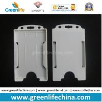 Buy cheap White Hard Plastic ID Card Holder Pouch for Business Cards from wholesalers