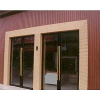 Buy cheap Composite Wall Panel For Door And Shop Wall , Cedar / Brown Timber Effect Cladding from wholesalers