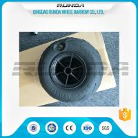 Buy cheap No Axle Pneumatic Wheelbarrow Wheels Puncture Resistant PVC 230mm*115mm from wholesalers