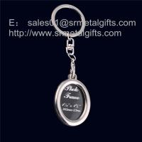 Buy cheap Oval metal picture locket key ring, oval photo locket key chain, from wholesalers