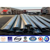 Buy cheap Sided Multi Sided 8m 25 KN Metal Utility Poles For Overhead Electric Power Tower from wholesalers