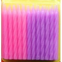 Buy cheap Pink And Purple Color Spiral Cake Candles For Grils Birthday Party Decorative from wholesalers