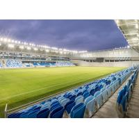 Indoor / Outdoor Stadium Seating Systems , Tip Up Base Football Stadium Seats