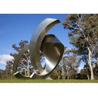 Buy cheap Garden Large Modern Abstract Stainless Steel Decorative Sculpture from wholesalers
