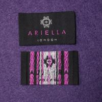 Buy cheap OEM Black Garment Woven Neck Labels End Fold Heat Cut Finishing from wholesalers