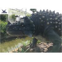 Artificial Animatronic Dinosaur Lawn Statue For Outdoor Amusement Theme Park