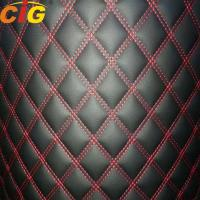 Buy cheap Embroidery Pvc/Pu Artificial Leather with 4-6mm Foam and PP non-woven back and XPE backing used for Car Carpets product
