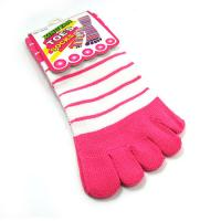 Buy cheap OEM pink color pretty bamboo fiber spandex anti - bacterial five toes socks for children  from wholesalers