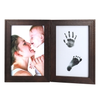 Buy cheap Baby Handprint Footprint Picture Frame Baby Shower Gifts, Newborn Baby Keepsake Frames from wholesalers