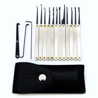 Buy cheap Good quality 12pcs Lock Picks Sets Stainless Handles w/ Bag Removing Key Set Lockpick Locksmith Tools Lock from wholesalers
