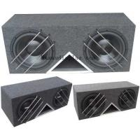 Buy cheap 3 Metal Bar Protector Dual 12 Car Subwoofer Box 15mm MDF Enclosure from wholesalers