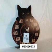 China Cat Wall Clock Vintage High Quality Retro Wall Clock Large Animal Wall Clock for Living Room on sale