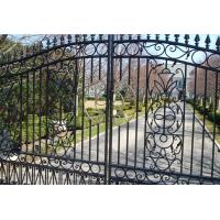 Buy cheap Beautiful Residential Wrought Iron Gate Designs/Models from wholesalers