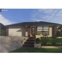 High Acoustic Insulation Prefab Bungalow Homes / Prefab Mobile Homes With Pvc Sliding Door