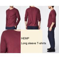 Buy cheap Eco Friendly Round Neck Hemp Cotton Clothing Long Sleeve Blank Design from wholesalers
