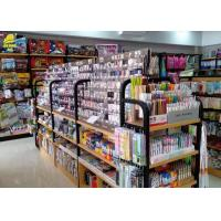Buy cheap Various Color Metal Shelving Units With Wood Shelves Convenience Store Use from wholesalers