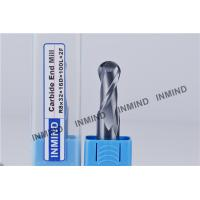 HRC55 TiSiN Coating Ball Nose End Mill High Precision 0.5 UM grain size , AOL 100 mm