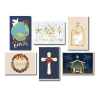 Buy cheap 250gsm Ivory Folded Happy Holidays Card 4*6 Inches With Gold Envelope from wholesalers
