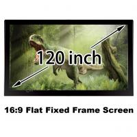 Buy cheap High Quality Picture 120 Inch 10 Feet Fixed Frame Projection Screen Wall Mount 3D Display from wholesalers