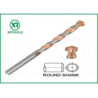 Buy cheap Round Shank Metric Masonry Drill Bits Copper Plated L Flute For Concrete Brick from wholesalers