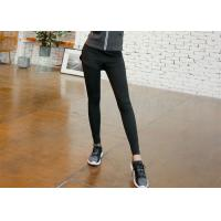 Buy cheap Black Color Womens Compression Leggings , Workout Compression Tights Anti Bacterial product