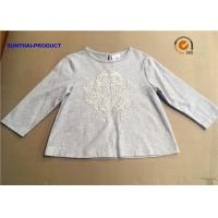 Buy cheap 32 S/1 100% Cotton Children T Shirt Long Sleeve Heather Gray For Baby Girl from wholesalers