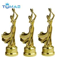 Buy cheap Hot design various color plated available custom metal dancing figurines from wholesalers
