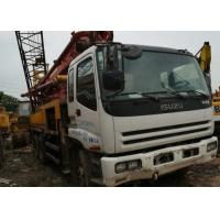 Buy cheap ISUZU 37 White Used Concrete Pump With 32.1 Meters Maximum Cloth Depth from wholesalers
