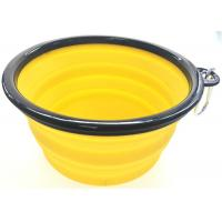 Buy cheap 1000ml Volume Silicone Pet Bowl Collapsible With An Aluminum Hook from wholesalers