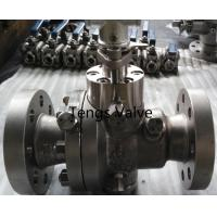Buy cheap Cast stainless steel A351-CF8M split body reduced bore flanged trunnion mounted ball valve from wholesalers