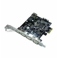 Buy cheap Fully plug 4 Ports USB 3.0 PCI Cards with PCI Express Base 480Mbps from wholesalers