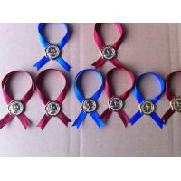 Buy cheap custom metal neck tags with ribbon,iron hang tags,wine neck labels from wholesalers