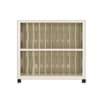 Buy cheap Mobile Office Financial Account Shelves Cabinet With Wheel from wholesalers