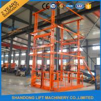 Buy cheap 5T 6m Warehouse Hydraulic Guide Rail Freight Lift Elevator Vertical Goods Lift With CE TUV from wholesalers