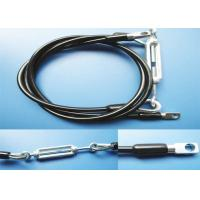 Buy cheap Turnbuckle and Thimble Eye Black Nylon Coated Steel Wire Ropes Slings from wholesalers