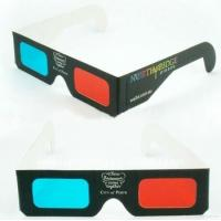 Buy cheap Eco Friendly Cardboard Flicker Free Red And Cyan Anaglyph 3D Glasses With Pet Filter Lens from wholesalers