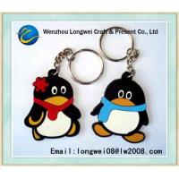 Quality Penguin soft Custom PVC keychain as gift and souvenir , rubber keychain for sale