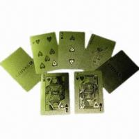 Buy cheap Gold/Silver Foil Playing Cards with Edge or Corner, Customized Own Designs and Logos are Accepted from wholesalers