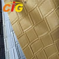 Buy cheap Flame Retardant PVC Sponge Leather / PVC Synthetic Leather For Car Seat And Sofa product