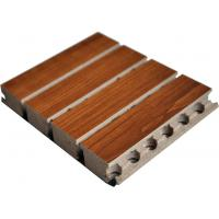 Buy cheap Tongue Wooden Grooved Acoustic Panel , 15mm MDF Sound Wall Panels from wholesalers