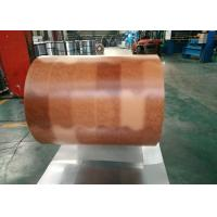 Buy cheap Printing Color Prepainted Galvalume Steel Coil 55% Wooden Brick Pattern from wholesalers