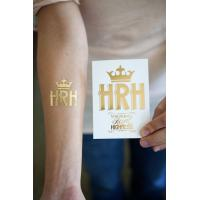Buy cheap Gold and silver metallic temporary tattoo from wholesalers