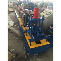 Buy cheap Hydraulic Cutting Chain Drive Galvanized Steel Sheet Door Rail Rolling Forming Machine 7.5Kw Main Power from wholesalers