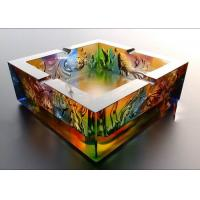 Buy cheap Square / Round Shape Ashtrays Home Decorations Crafts 120*45mm For Smoker from wholesalers