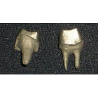 Buy cheap Yellow Gold PFM Dental Crown Lab Dental Post And Core Good Strength from wholesalers
