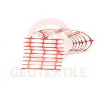 Buy cheap Lightweight Orange Plastic Mesh Barrier Fence Netting , Crowd Control Orange Barrier Fencing product